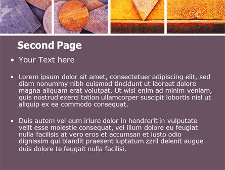 Rust PowerPoint Template, Slide 2, 06141, Utilities/Industrial — PoweredTemplate.com