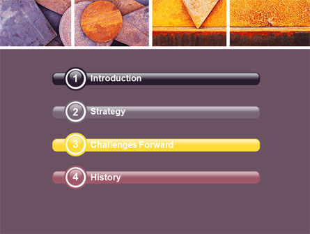 Rust PowerPoint Template, Slide 3, 06141, Utilities/Industrial — PoweredTemplate.com