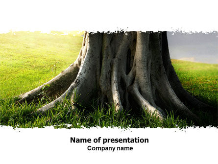 Tree Trunk PowerPoint Template, 06142, Nature & Environment — PoweredTemplate.com