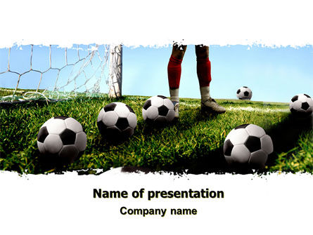 Sports: Soccer Training PowerPoint Template #06143
