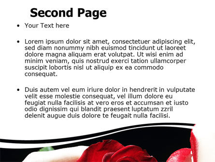 Red Passion PowerPoint Template, Slide 2, 06144, Holiday/Special Occasion — PoweredTemplate.com