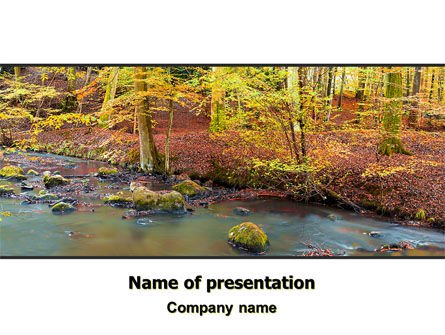 Autumn Scenery PowerPoint Template, 06147, Nature & Environment — PoweredTemplate.com