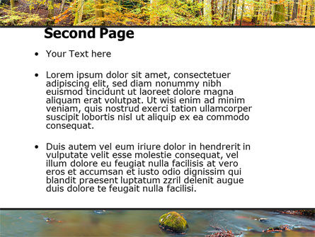 Autumn Scenery PowerPoint Template, Slide 2, 06147, Nature & Environment — PoweredTemplate.com