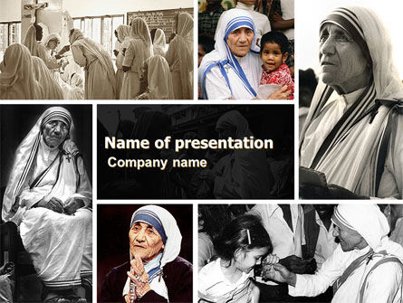 People: Modello PowerPoint - Madre teresa #06148