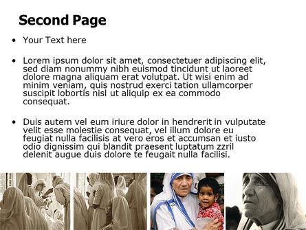 Mother Teresa PowerPoint Template Slide 2