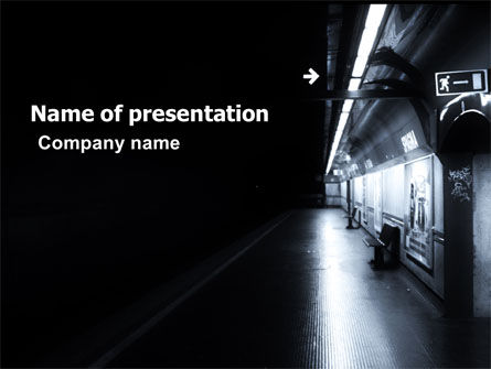 Cars and Transportation: Underground Station PowerPoint Template #06149