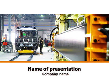Automotive Assembly Line PowerPoint Template, 06150, Utilities/Industrial — PoweredTemplate.com