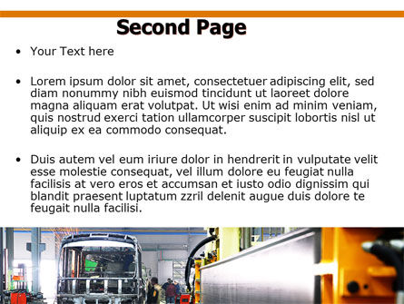 Automotive Assembly Line PowerPoint Template, Slide 2, 06150, Utilities/Industrial — PoweredTemplate.com