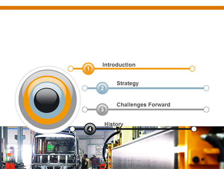 Automotive Assembly Line PowerPoint Template, Slide 3, 06150, Utilities/Industrial — PoweredTemplate.com