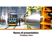 Utilities/Industrial: Automotive Assembly Line PowerPoint Template #06150