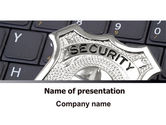 Technology and Science: Web Security PowerPoint Template #06153