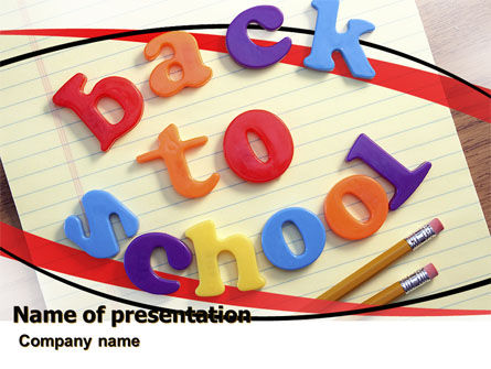 Back-to-School Season PowerPoint Template, 06154, Education & Training — PoweredTemplate.com