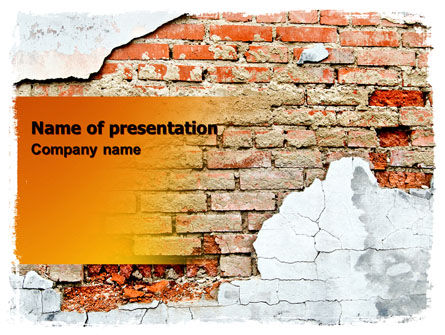 Wall PowerPoint Template, 06155, Abstract/Textures — PoweredTemplate.com