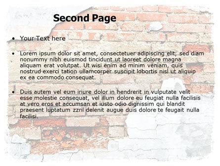 Wall PowerPoint Template, Slide 2, 06155, Abstract/Textures — PoweredTemplate.com