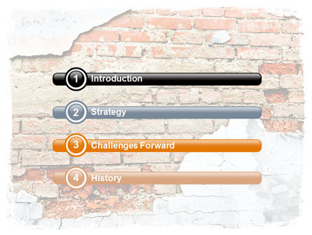Wall PowerPoint Template, Slide 3, 06155, Abstract/Textures — PoweredTemplate.com