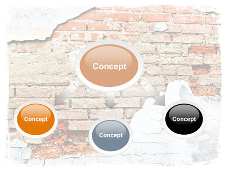Wall PowerPoint Template, Slide 4, 06155, Abstract/Textures — PoweredTemplate.com