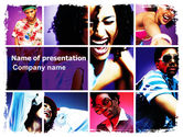 People: Clubbers PowerPoint Template #06156