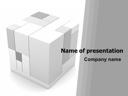 Business Concepts: Assembled Cube PowerPoint Template #06157