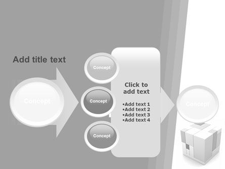 Assembled Cube PowerPoint Template Slide 17