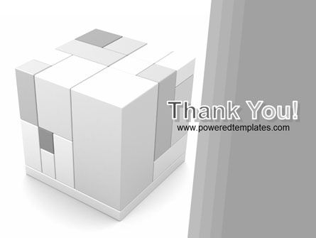 Assembled Cube PowerPoint Template Slide 20