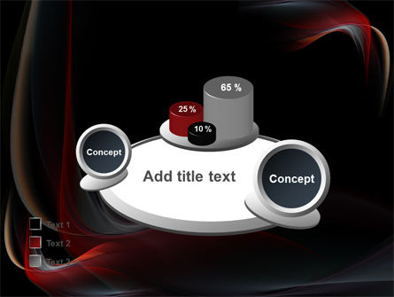 Abstract Red Wave PowerPoint Template Slide 16