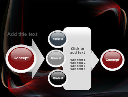 Abstract Red Wave PowerPoint Template Slide 17