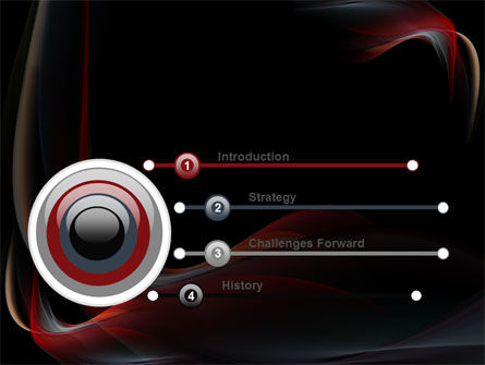 Abstract Red Wave PowerPoint Template Slide 3