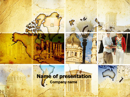 Historical Places PowerPoint Template, 06159, Careers/Industry — PoweredTemplate.com