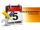 Utilities/Industrial: Building Deadline PowerPoint Template #06160