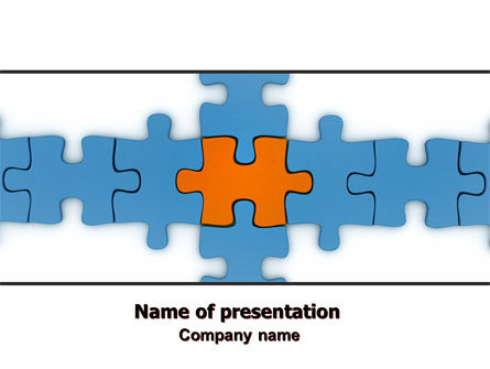 Center Puzzle PowerPoint Template