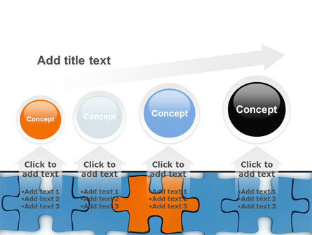 Center Puzzle PowerPoint Template Slide 13
