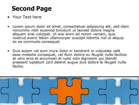 Center Puzzle PowerPoint Template Slide 2