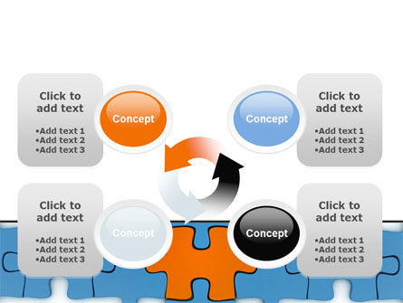 Center Puzzle PowerPoint Template Slide 9