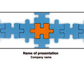 Consulting: Center Puzzle PowerPoint Template #06162