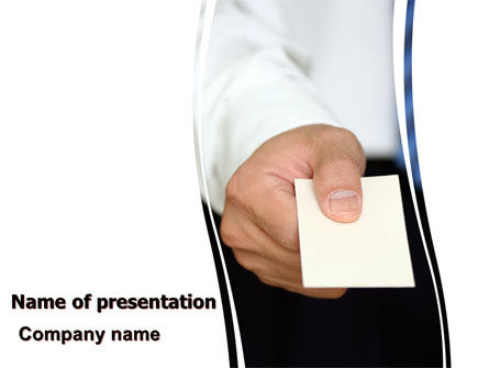 Business: Business Card PowerPoint Template #06165