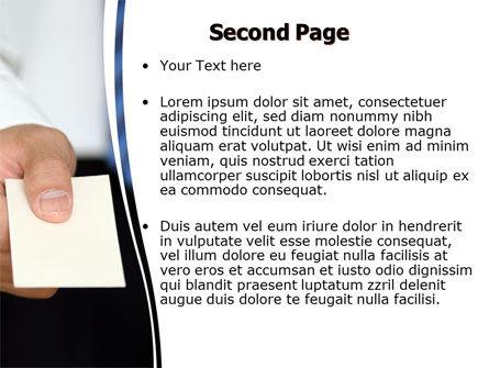 Business Card PowerPoint Template, Slide 2, 06165, Business — PoweredTemplate.com