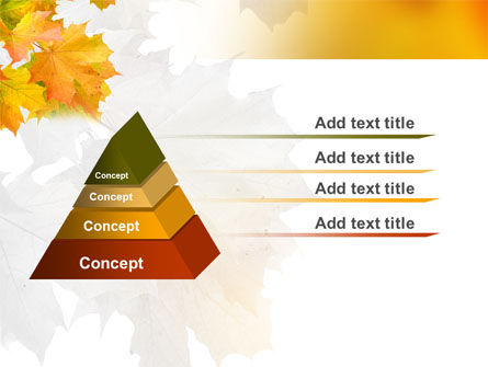 Yellow Leaves Of Maple PowerPoint Template, Slide 4, 06166, Nature & Environment — PoweredTemplate.com