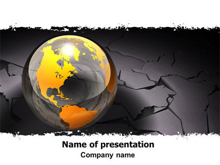 Global: Shuttered World PowerPoint Template #06169