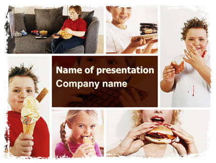Sweet Snacks PowerPoint Template, 06170, Medical — PoweredTemplate.com