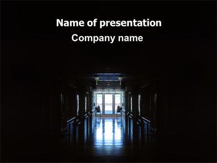 Hospital Hall PowerPoint Template, 06171, Medical — PoweredTemplate.com
