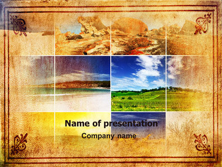 Landscapes PowerPoint Template, 06172, Nature & Environment — PoweredTemplate.com