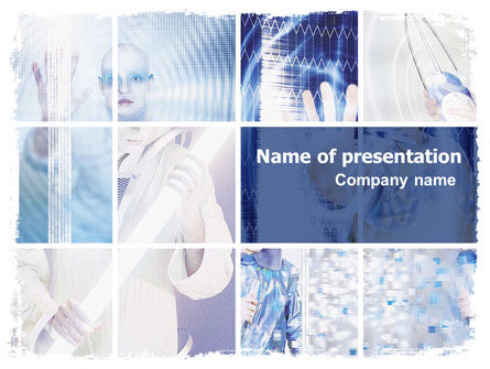 Futuristic Lady PowerPoint Template, 06173, Technology and Science — PoweredTemplate.com