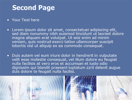 Futuristic Lady PowerPoint Template, Slide 2, 06173, Technology and Science — PoweredTemplate.com