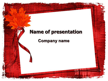 Autumn Frame PowerPoint Template