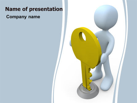 Consulting: Unlock PowerPoint Template #06177
