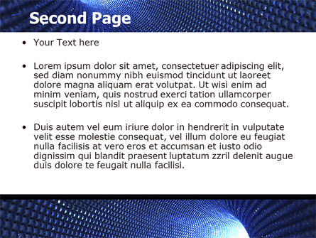Blue Sparkles Tunnel PowerPoint Template, Slide 2, 06178, Technology and Science — PoweredTemplate.com