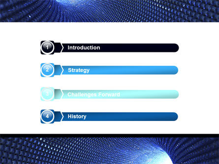 Blue Sparkles Tunnel PowerPoint Template, Slide 3, 06178, Technology and Science — PoweredTemplate.com