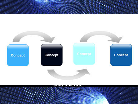 Blue Sparkles Tunnel PowerPoint Template, Slide 4, 06178, Technology and Science — PoweredTemplate.com