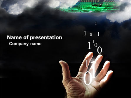 Technology and Science: Information Coding PowerPoint Template #06180