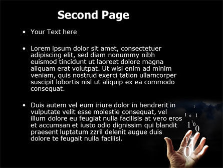 Information Coding PowerPoint Template, Slide 2, 06180, Technology and Science — PoweredTemplate.com